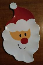 Adorable Santa Claus Serving Tray Melamine Perfect for Christmas Party Cookies