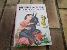 HISTOIRE D'UN ANE ET DE DEUX PETITES FILLES BIBLIOTHEQUE ROSE 1963 très bon état