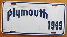 1980's PLYMOUTH 1949 BOOSTER License Plate