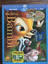 Disney Bambi 2-Disc Blu-ray DVD disc set Diamond Edition with OOP Slipcover!