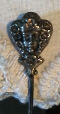 Antique Sterling Victorian Hatpin - Lady Face