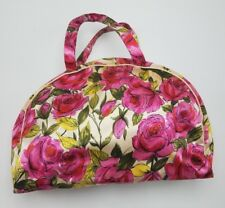 *Super Cool* Vintage Celebrity Inc New York Floral Travel Bag Make Up Toiletries