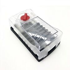 12 Way Standard Blade Fuse Box with Twin Positive Bus Bars & Negative Bus Bar