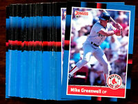 1988 Donruss MIKE GREENWELL ~ 50 CARDS LOT ~ BOSTON RED SOX CARD OF