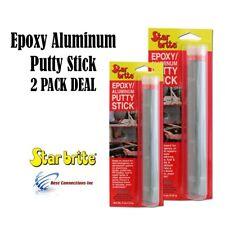 Star Brite 2 PACK Epoxy Aluminum Putty Stick Permanent Emergency Repairs 87004
