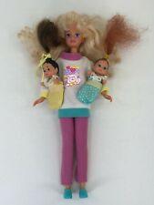 Mattel Barbie #12071 Babysitter Skipper & Two Babies 1994