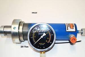 HYDRAULIC 20t SHOP PRESS RAM & GAUGE ASSEMBLY,  (HRG20)