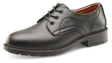 B-Click Footwear SW2010 Leather Managers Safety Shoe Steel Toe Cap - Black