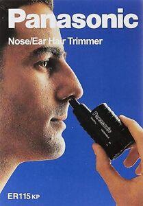 Panasonic ER115 Nose & Ear Hair Wet/Dry Trimmer Clipper Battery-Operated NEW