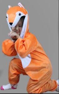 Halloween Kids Animal play costume dress up Mr Fox one piece all seasons 3-10Y