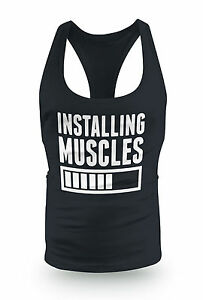New Installing Muscles Stringer Racer bodybuilding low scoop Y Back Gym Top Vest
