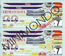 DECALS SUBARU IMPREZA WRX ART RALLY SANREMO 1995 BIASION 1/43 RACING43 RACING 43