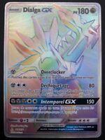 Carte Pokemon DIALGA 164/156 GX Full Art RAINBOW Soleil et Lune 5 SL5 FR NEUF