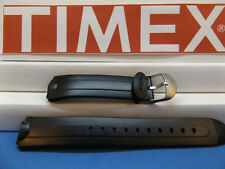 Timex Watch Band Unknown Acqua Black Ladies Sport Band. Two-Piece Strap Resin