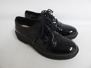 Clarks Black Patent Leather Brogues - Size 4