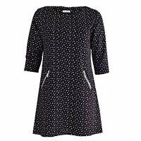 Magna - Festliche Tunika Damen Kleid Glitzer-Silber Kreise oder Karo - 56 58