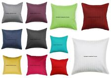 5 PC Satin Plain Solid Throw Home Decor Pillow Case Bed Sofa Waist Cushion Cover