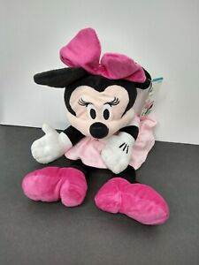 """Disney Baby Minnie Mouse Plush Hand Puppet 14"""" Tall Soft Toy New"""