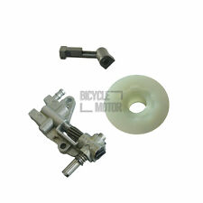 Oil Pump & Pipe With Worm For Chinese 4500 5200 45cc 52cc Chainsaw New