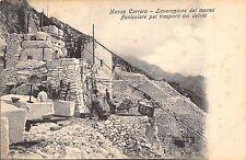 5694) MASSA CARRARA, LAVORAZIONE DEI MARMI, FUNICOLARE TRASPORTO DEI DETRITI.