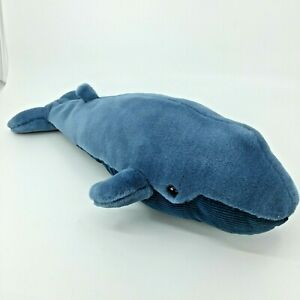 """Humpback Blue Whale Plush 16"""" Long Vintage The Westcliffe Collection Sea Life"""