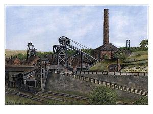 Coombs Colliery circa 1855 - 1972 - Ltd Ed Print - Pit Pics - Coal Mining