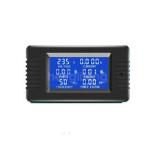 New Lcd Ac 5a 100a Combo Meter Voltage Current Amp Kwh Watt Power Panel Monitor