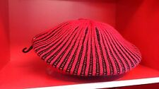 Ladies red and black beret