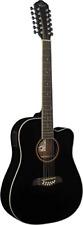 Oscar Schmidt OD312CEB-A-U 12-String Acoustic Electric Guitar Black