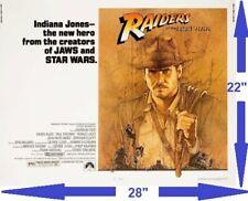 ✯Raiders Of The Lost Ark✯ 22x28 Half Sheet Original Movie Poster Indiana Jones