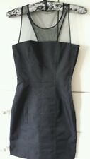 BNWT H&M BEAUTIFUL BLACK FASHIONABLE DRESS PETITE RANGE (6) MESH ROUND NECK AREA
