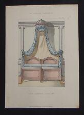 LA TENTURE FRANÇAISE 1905 - Lits jumeaux Louis XVI - décoration tapisserie 92