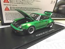 PORSCHE 911 Turbo 3.0 1975 green met G-Modell 930 Coupe Kyosho KYO5524G0 SP 1:43
