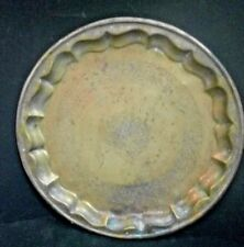 1800s OLD VINTAGE INDIA VERY DETAIL HAND CARVED BRASS / BRONZE PLATTER / PLATE