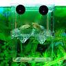 Aquarium Fish Tank Guppy Double Breeding Breeder Rearing Trap Box Hatchery YS6