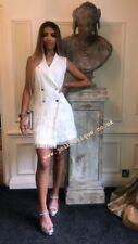 white tux Tassle dress
