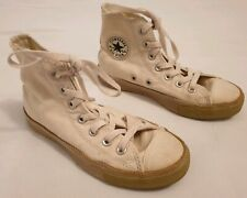 Converse Chuck Taylor All Star Beige High Top Trainers Fabric Trims UK Size 3
