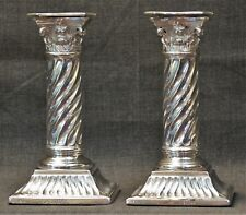 Sterling Silver Candlesticks England Martin and Hall