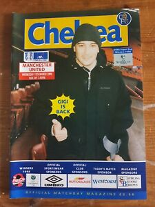 "FA CUP 6th rd replay PROGRAMME CHELSEA V MAN UNITED 10th mar 99 ""TREBLE SEASON"""