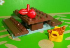 ** LEGO TOWN CITY MINIFIG PICNIC BENCH WITH FOOD FROM 60134 **