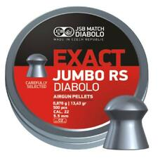 JSB Exact Jumbo RS Diabolo .22 Air Rifle Pellets Air Gun Ammo 5.52 Tins of 500