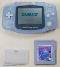 GameBoy Advance - Konsole #transparent blau - clear blue + TETRIS Spiel TOP!
