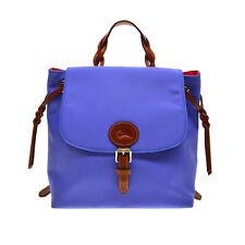 Dooney & Bourke Nylon/ Leather Flap Backpack French Blue FABULOUS  NWT !!