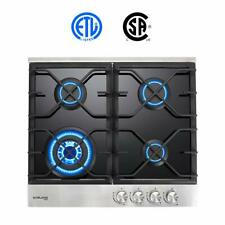 "Gas Cooktop Gasland Chef Gh60Bf 24"" 4 Burner Built-in Gas Cooktops Black Temp."