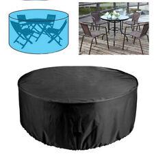 Garten Rund Möbel Abdeckung Tisch Abdeckplane Schutzhaube Möbelschutzhülle