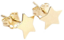 Stunning Celebrity Style 24K Vermeil Gold Over Sterling Silver 6mm Star Studs.