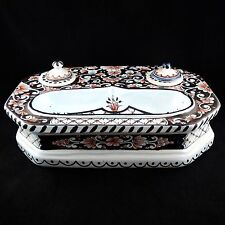 Ancien Grand ENCRIER, Faïence ROUEN nevers/desvres/ceramic/French Inkwell 19th
