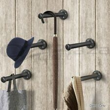 Industrial  Wall Shelf Brackets Steampunk Iron Pipe Book Shelving Furniture US