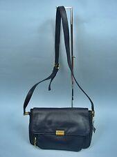 Laura Scott Navy Blue Leather Shoulder Bag