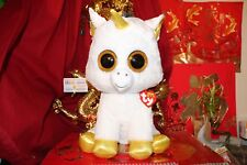 """Ty Beanie Boos Pegasus Unicorn.Jumbo.18"""".Cl aire'S Exclusive.2017.Mwnmt.Nice Gift"""